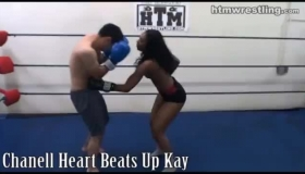 Horny Housewives Boxing For The Viewers