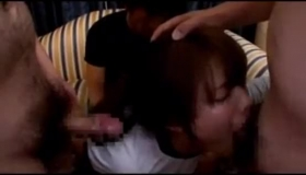 Naiveber Japanese Schoolgirl Sucking Dicks