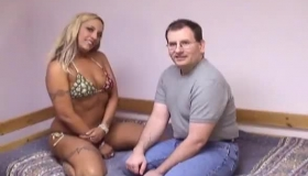 Horny Man Was Licking Fresh Lady's Pussy After Her Husband Came To Fuck Her Hairy Cunt