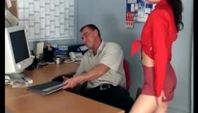 Skinny Secretary In Gang Bang