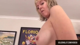 British Blonde Woman With Big Tits Is Getting A Massive Cock Inside Her Pussy And Loving It