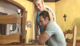 Slutty Blonde Is Giving The Best Blowjob Ever To A Guy She Is Secretly In Love With