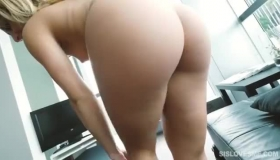 Hot Sexy Blonde Sucks A Gang B