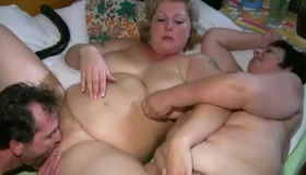 Fat Mature Goes Lesbian On Her Daughters Pussy