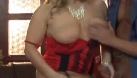 Busty Blonde Granny In Streetsexual Act