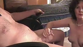 Mature Man Teasing A Cute Amateur Lady