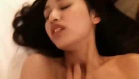 Asian Beauty With Sensual Lips Is Wearing Erotic Outfit And Playing With Her Hairy Pussy