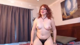 Sexy Redheaded Mom Fucks Stepson