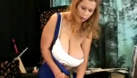 Pretty Breast Blonde Showing Panties And Long Nail