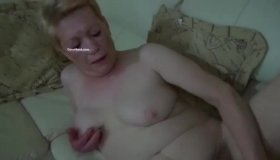 Horny Granny Drinking A First Date Cum