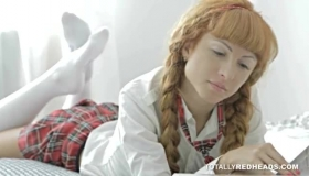 Classy Redhead Sucks Dick While Taking A Video
