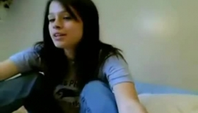 Dark Haired Woman Is Down On Her Knees, To Show Her Nice Tits And Fuck Her My Knees