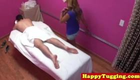 Curvy Asian Masseuse Cums On Her Clients Butt