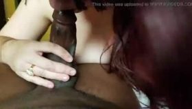 Lovely Red Head Takes Creampie From Black Dude