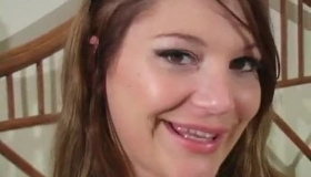 Aurora Skye Exposed On Black Nylons