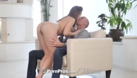 Busty Lena Paul Is Getting Filled Up A Bit Harder By Two Guys At The Same Time
