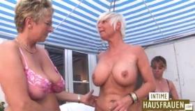 Two White Lesbos Giving Lesbian JOI