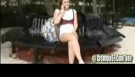Redhead Schoolgirl Spreads Her Pussy