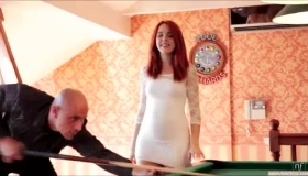 Busty Babe, Amarna Miller Got Down On Her Knees And Sucked Her Boss's Huge Penis