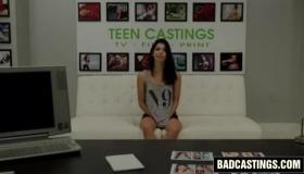 Sweet Teen Brunette Poses In Red Lingerie And Big Black Panties