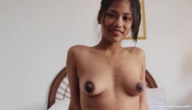 Petite Asian Brunette, Asa Seemed Nervous While Dancing In Front Of The Camera, Just For Fun