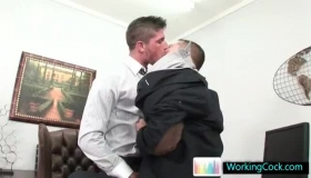 Hunk Sucking On Hard Cock