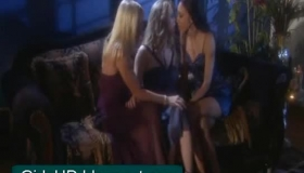 Sweet Blonde And Her Lesbian Friends Are About To Make Love, Instead Of Watching A Movie