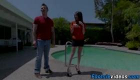 Rimjob And Foot Job Super Hot Action