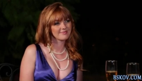 Two Redhead Glam Goddess Suck And Fuck Her Stud