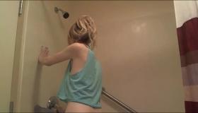 Blonde Taking Off Her Panties