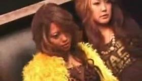 Sexy Japanese Women Kneeling On The Floor Enjoying Maledomolate