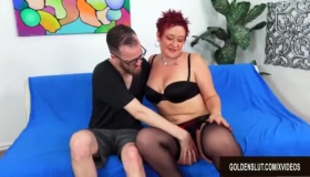 Mature Redhead Woman Likes Showing Her Soft Pussy To Her Boyfriend, While In Front Of The Camera