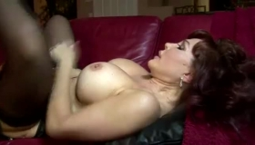 Amateur Lesbian Cougar Got Fucked Hard On The Couch In Her Bed And Enjoyed It A Lot