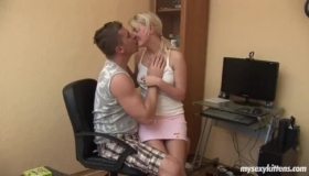 Young Blonde Suck On Cock
