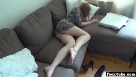 A Blindfolded Brown Haired Woman, George Likes To Fuck Her Colleague From Work And Make Love With Him