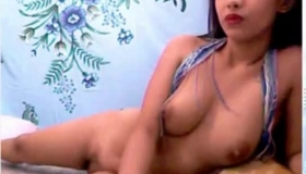 Sweet Asian Pussy Nailed On Top