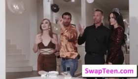 Gracie May Green And The Hot August Ames Are Having Group Sex, Instead Of Just Getting Spanked