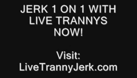 Sexy Tranny Pounded Hard By Two Guys