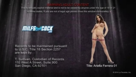Pale Brunette, Ariella Ferrera Sucks A Rock Hard Cock And Expects A Rock Hard Dick