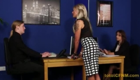 Horny CFNM MILF Kaylicious Gets Her Tight Pussy Stretched With Big Cocks