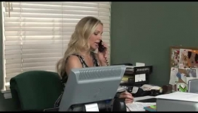 Nasty Office Milf Got Down And Dirty With Her Bald Boss, Because She Liked His Hard Dick