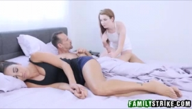 Alexlee Brooks And Kristina Rose Can't Wait To Get Fucked Hard By Bill Benson, Until They Both Cum