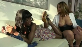 Lovely Woman, Raquel Blue Is Having A Threesome With A Handsome, Black Guy She Likes A Lot