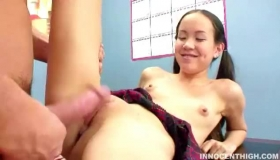 Slim Asian Schoolgirl Is Getting Licked In Class, Before Going Home And Getting Naked And Toying Her Nice Holes