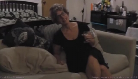 Amateur Granny Titty Fucked And Pumped While At Work