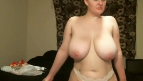 Beautiful Blonde With Large Tits Being Nude