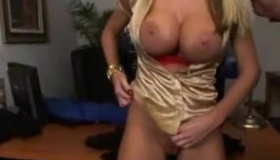 Two Big Breasted Babes Sharing A Big Black Cock
