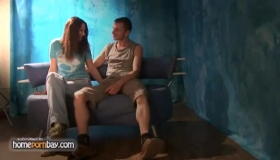 Hot Russian Brunette Is Bouncing Up And Down While Fucking One Of Her Best Friends