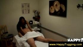 Dirty Asian Masseuse Rubs Her Client