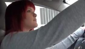 Dirty Redhead Flashing Ass At Webcam